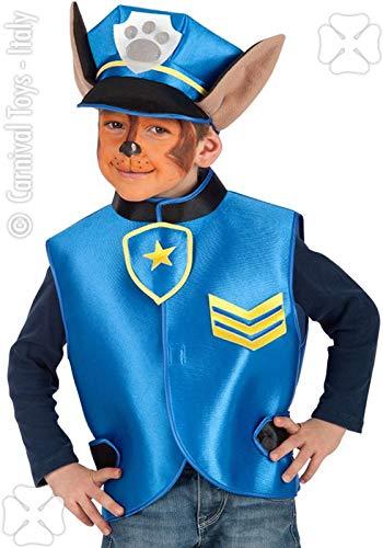 Carnival toys set cucciolo poliziotto casacca e cappello in busta costume party 824,, 8004761033804