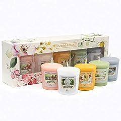 Idea Regalo - YANKEE CANDLE Collezione Garden Hideaway Set Regalo 5 Candele Votive Profumate, Bianco