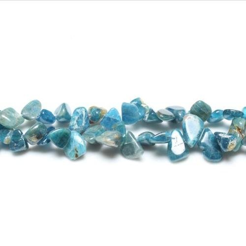 Filo 48+ Blu Ottanio Apatite 8-12mm Chips Goccia Perline - (GS3167) - Charming (48 Filo)