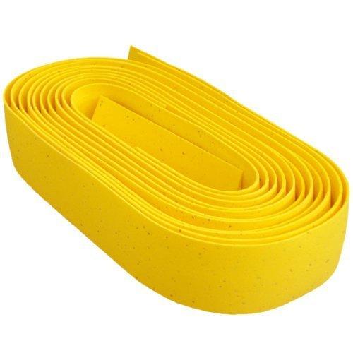 Bike Ribbon Cork Gel Road Bicycle Handlebar Tape (Yellow) by bike Ribbon -