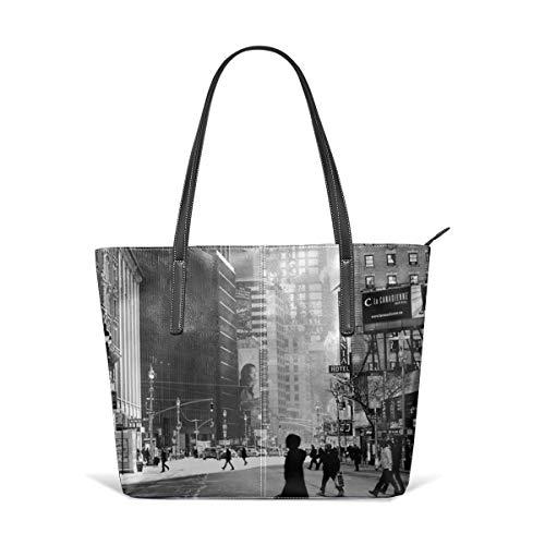 Sotyi-ltd Street Life On Broadway New York City Beach Tote Bag Travel Tote Bag Toy Tote Bag Shopping Tote Schultertasche für Damen und Mädchen