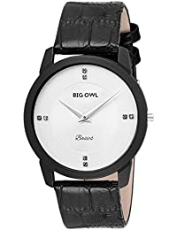 Bigowl Slim Analog White Dial Premium Quality Wrist Watch For Men