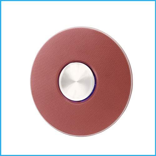 qiyanNew Round Home Outdoor Bluetooth Stéréo Haut-Parleur De Voiture Portable Créativité Personnalité Haut-Parleur Rouge