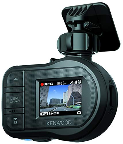 Kenwood DRV-430 Full HD Dash Cam with Integrated GPS and Driving Assistance System Black
