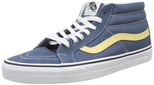 Vans Unisex-Erwachsene Sk8-Mid Reissue Hohe Sneaker, Blau (Vintage Indigo/Pineapple Slice Q8d), 35 EU