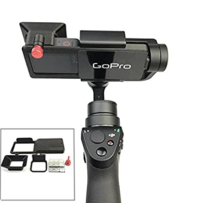 Fascinated Drone GOPRO Hero 5 Accessories Adapter Switch Mount Plate for OSMO Mobile Gimbal Camera by Fascinated Drone