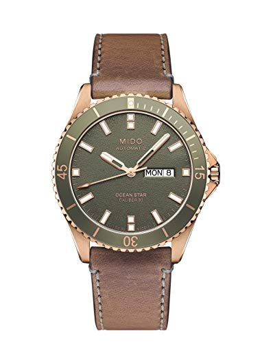 Mido M0264303705100 Sapphire Crystal Ocean Star Watch Rose-Gold/Green