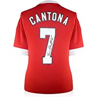 d77604c5a Exclusive Memorabilia Eric Cantona Back Signed Manchester United Home Shirt