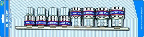king tony 4010MR Jeu de Douilles M/étriques sur Rail 1//2 Set de 8