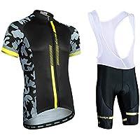 jersey Trajes De Ciclismo para Hombre Camisa De Manga Corta De Secado Rápido Transpirable para Hombre + Mallas De Montar Acolchadas 3D Pantalones Cortos para Ciclismo En Bicicleta XXXL