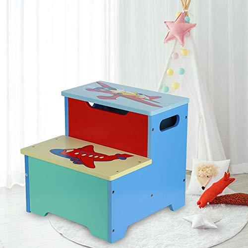 Lyrlody Caja Juguetes y Banco para Niños
