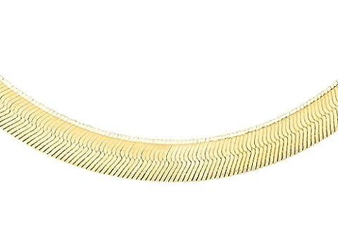 Jewellery World Bague en or jaune 9carats Motif à chevrons