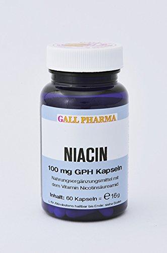 Gall Pharma Niacin 100 mg GPH Kapseln, erhältlich in verschiedenen Packungsgrößen