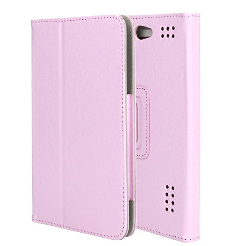 samLIKE Leder Hüllen für 7 Zoll Android Tablet PC Universal Folio Fall, 5 Farben (Rosa) (Android Cover 7inch Tablet)