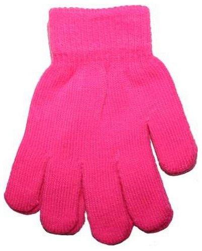 bambini NEON BRILLANTE fluorescente GUANTI MAGICI GL102 - Rosa Fucsia, One size