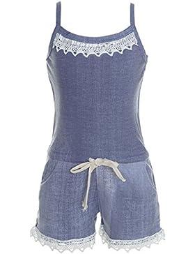 BEZLIT - Mono - harem - Básico - Cuello redondo - Sin mangas - para niña