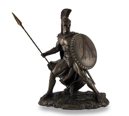 leonidas-spartan-king-unleashed-avec-spear-shield-statue-sculpture-figurine