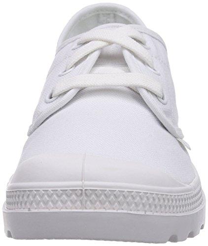 Palladium Pampa Oxford Lp, Bottes Classiques Cheville Femme Blanc - Weiß (WHITE/WHITE 154)