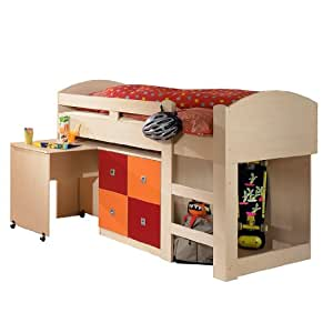 roller roller hochbett sunny braun 90x200cm. Black Bedroom Furniture Sets. Home Design Ideas