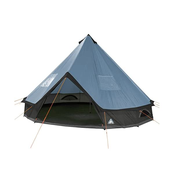 10T Mojave 500 Arona XXL Tipi tent waterproof 5-10 persons round tent Indian tent Ø 5 m 1