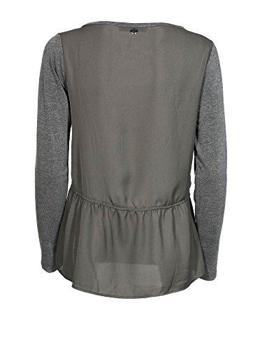 Cafè Noir JT062 T-shirt à manches longues CRYSTAL COEUR 1746 GRIGIO MELANGE