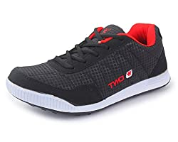 Touchwood Mens LiteForce Black Sports Running Shoes-9 IND/UK