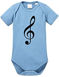 Music Note Baby Strampler by Shirtcity