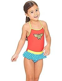 Zoggs Girls' Wonder Woman Swimdress