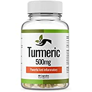 Organic Turmeric Curcumin 1000mg | Joint Care Supplement | 60 Powder Capsules | Acne Treatments, Back Pain Relief, Diet Supplement, Arthritis Pain Relief. (Made in UK)