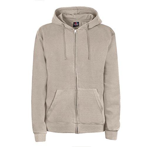 SUMG Apparel Unisex Kapuzenjacke Kapuzen Sweat-Jacke 'BASIC Hooded Zipper' (XL, sand)