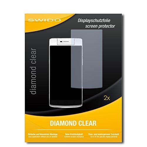 SWIDO 2 x Bildschirmschutzfolie Oppo N3 Schutzfolie Folie DiamondClear unsichtbar