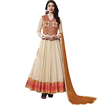 Impressed Collection Off White Jacquard Party Wear Salwar Kameez