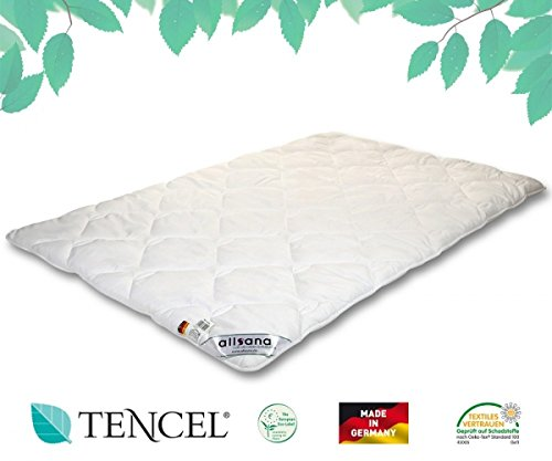 allsana TENCEL® Klimafaser Duo Steppbett 135x200 cm, Lyocell Winterdecke für Allergiker, waschbar bei 60°C, Tencel Bettdecke warm bei Allergie
