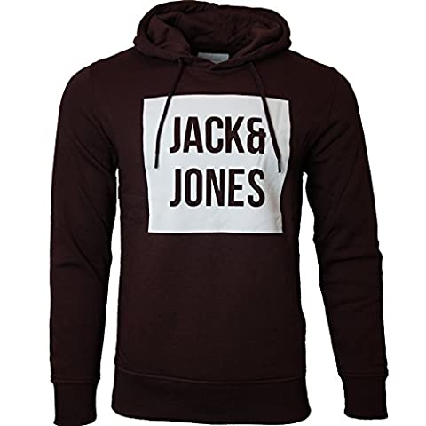 Jack & Jones Herren Kapuzenpullover Hoodie Core Storm Sweatshirt Sweat Tropical S M L XL XXL NEU (M, Bordeaux)