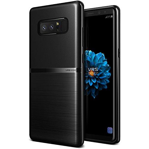 Samsung Galaxy Note 8 Hülle, VRS Design Schutzhülle [Schwarz] Schlagfesten Stoßstangen TPU Case Kratzfeste Schlanke Rutschfeste Handyhülle [Single Fit] für Samsung Galaxy Note 8 (2017)