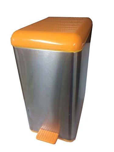 Vily's House Cubo Pedal Individual 18L. Naranja, con Cubo Interior en plástico para facilitar su extracción...