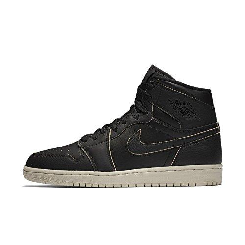 an 1 Retro High Premium Black Leder Sneaker 42 ()