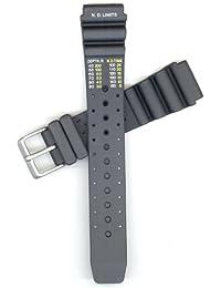 Citizen 59-L7404 - Correa de goma para reloj de hombres, color negro (20)