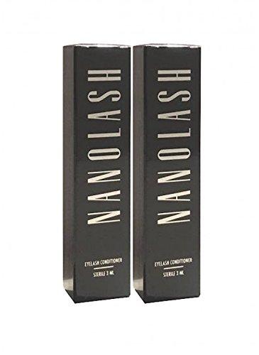 Nanolash Wimpernserum 3 ml, 2er Pack (2x3ml) - Großartiges Wimpernserum für das Wachstum der...