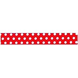 Toga dailylike lkt46Rollo de Tela Adhesiva Lunares algodón, algodón, Rojo, 6,5 x 6,5 x 1,5 cm