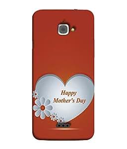 PrintVisa Designer Back Case Cover for InFocus Bingo 50 (Love U Mom For Special Happy Mother Day Feeling)