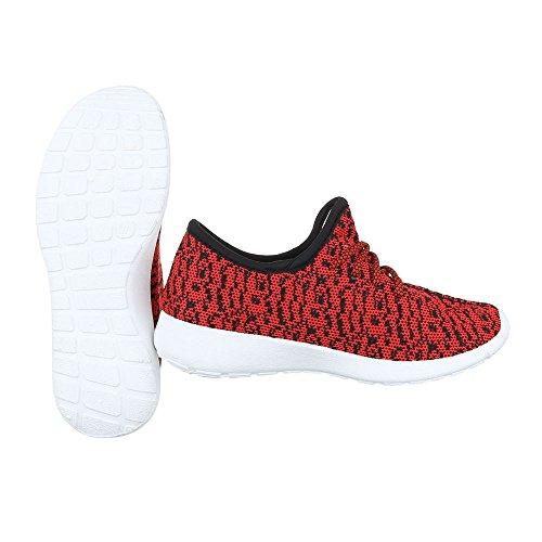 Sneakers rosse per uomo Ital Design SsxvMuGp