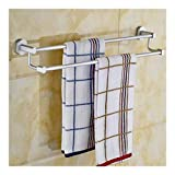 Edelstahl-Duschtuch Regal Aluminium Handtuchhalter Handtuch Lagerung der Wand befestigtes Bad Handtuchhalter Doppel-Handtuchhalter for Badezimmer Regale (Größe: 40 cm) 927 (Size : 40cm)