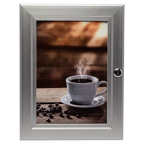 Hampton Frames Secure IT Frontladefabel in A4-Aluminium mit Zwei Tasten zur Verfügung gestellt SELOCKA4