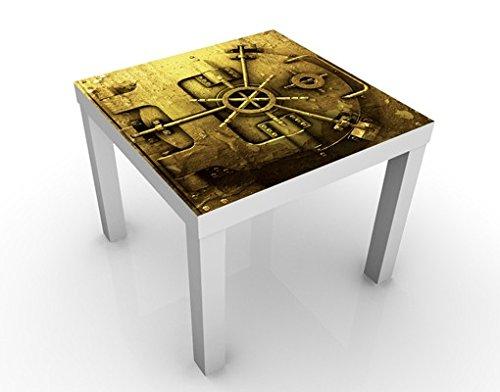 Apalis 46225–276830 Design Table Golden Coffre-Fort, 55 x 55 x 45 cm, Jaune, 45x55