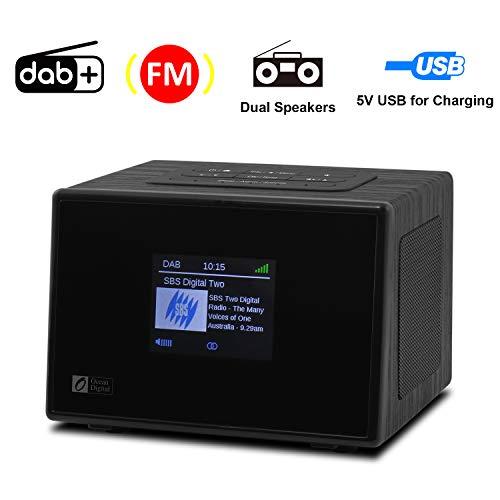 Ocean Digital DB825C Radio Stereo DAB/DAB+/Digitale FM con AUX in, Uscita Audio,...