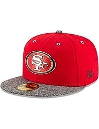 SAN FRANCISCO 49ers - NEW ERA 59FIFTY BASECAP - NFL DRAFT - RED / GREY