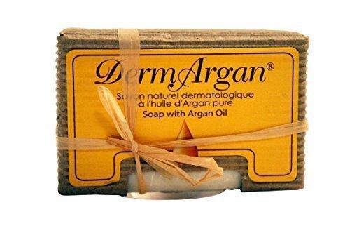 Savon Naturel Dermatologique Hydratant et Régénérant pour les peaux sèches à l'Huile d'Argan Pure, Nettoyant visage-corps quotidien, 100g