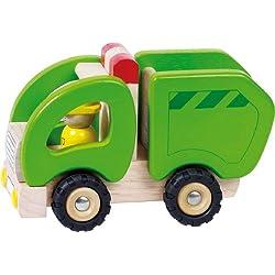 Goki 55964 - Camión de la basura en madera