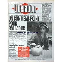 LIBERATION [No 3709] du 23/04/1993 - BALLADUR - UN BON DEMI-POINT BOSNIE - LES FRERES ENNEMIS CROATES ET MUSULMANS REGARD SUR L' ELDORADO SIBERIEN MONTREUIL - LA HAINE DES FLICS AU QUOTIDIEN FOOT - PSG PARI PERDU THEATRE - NATHALIE SARRAUTE AU VIEUX-COLOMBIER